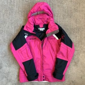Columbia Pink Hooded medium weight jacket